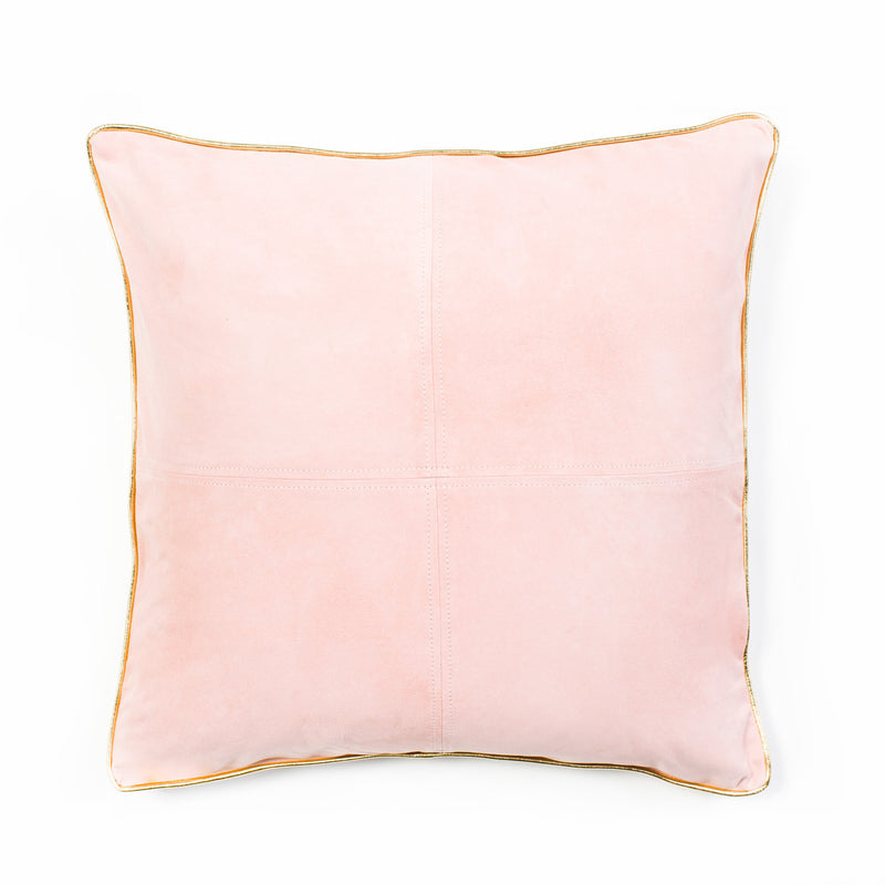 Harper Suede Cushion - Blush