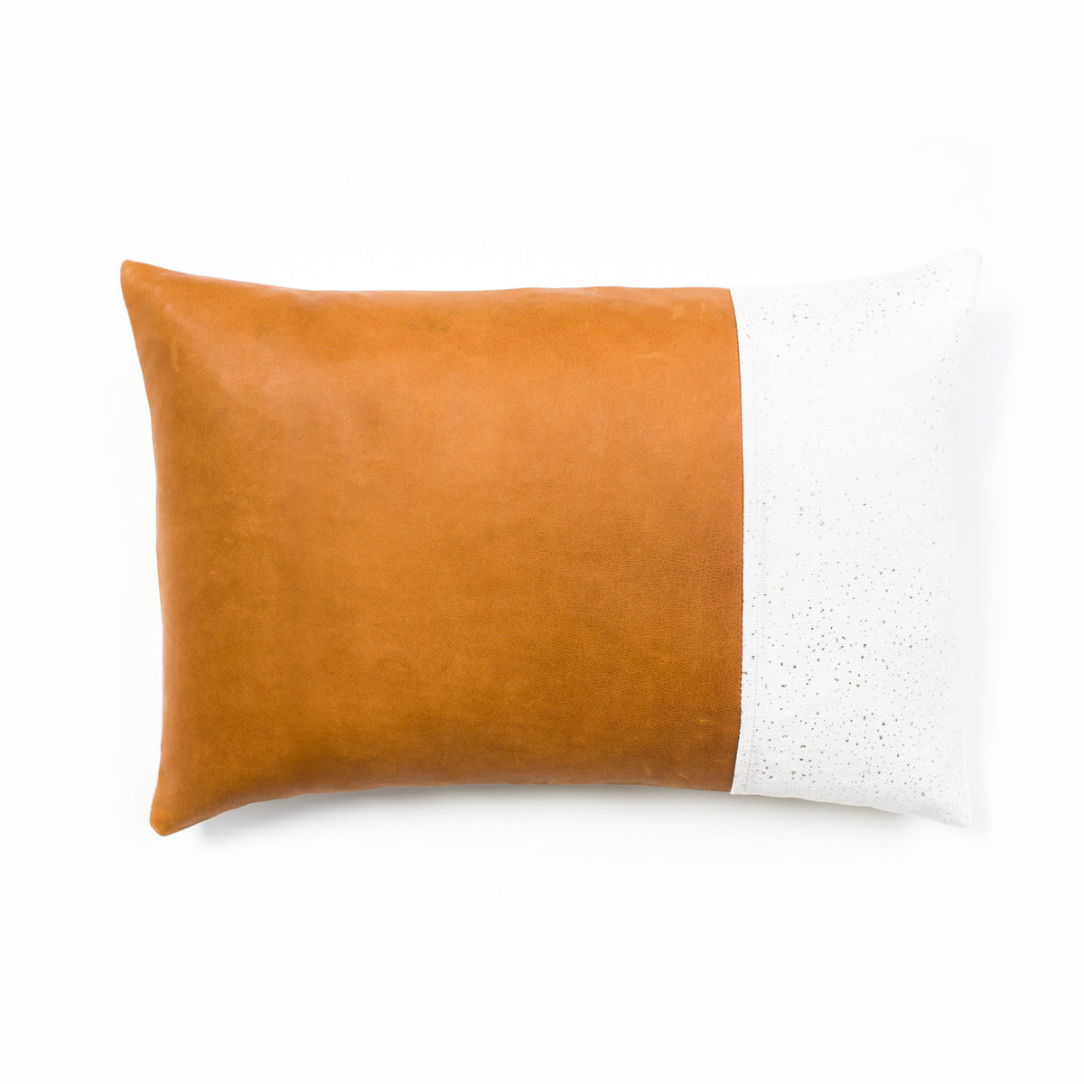 Fraser Leather & Linen Cushion Cover - Tan