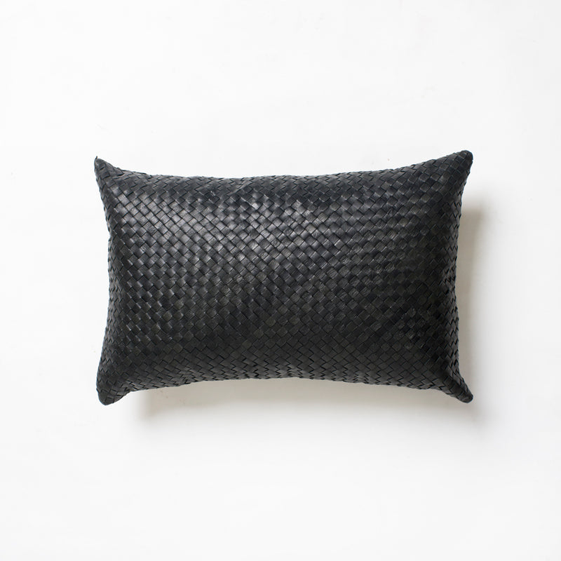Fred Full Leather Cushion - Black