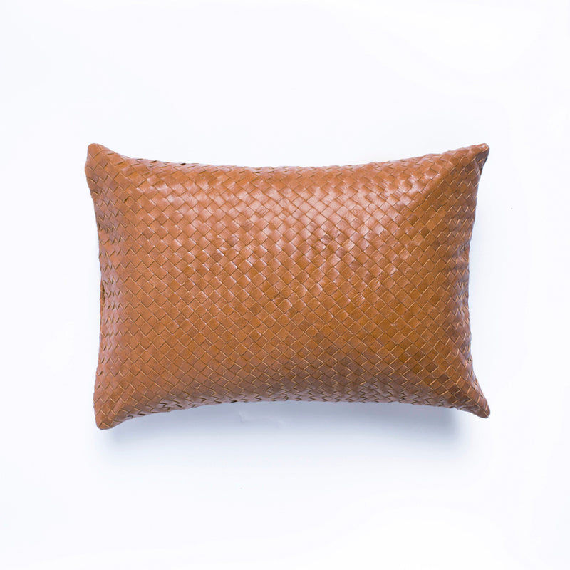 Fred Full Leather Cushion - Tan