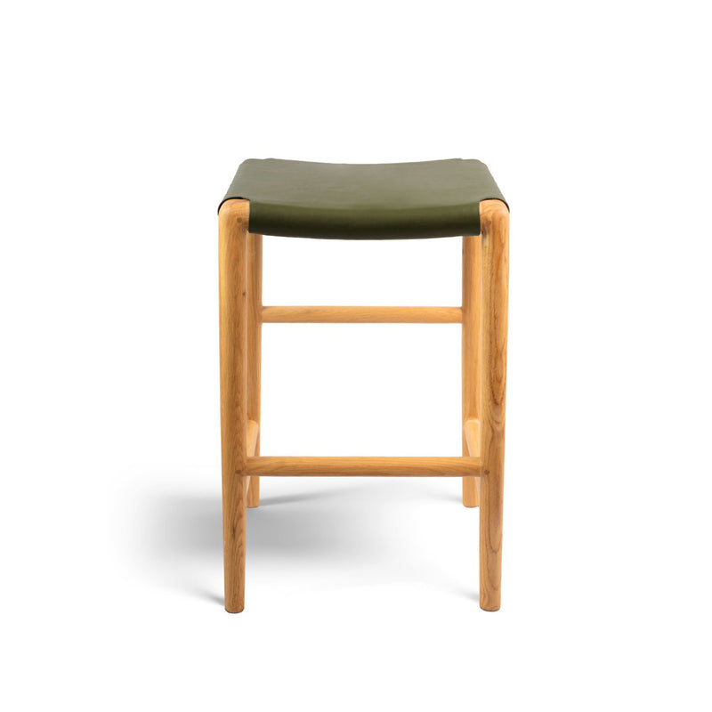 Spensley Stool Oak - Olive