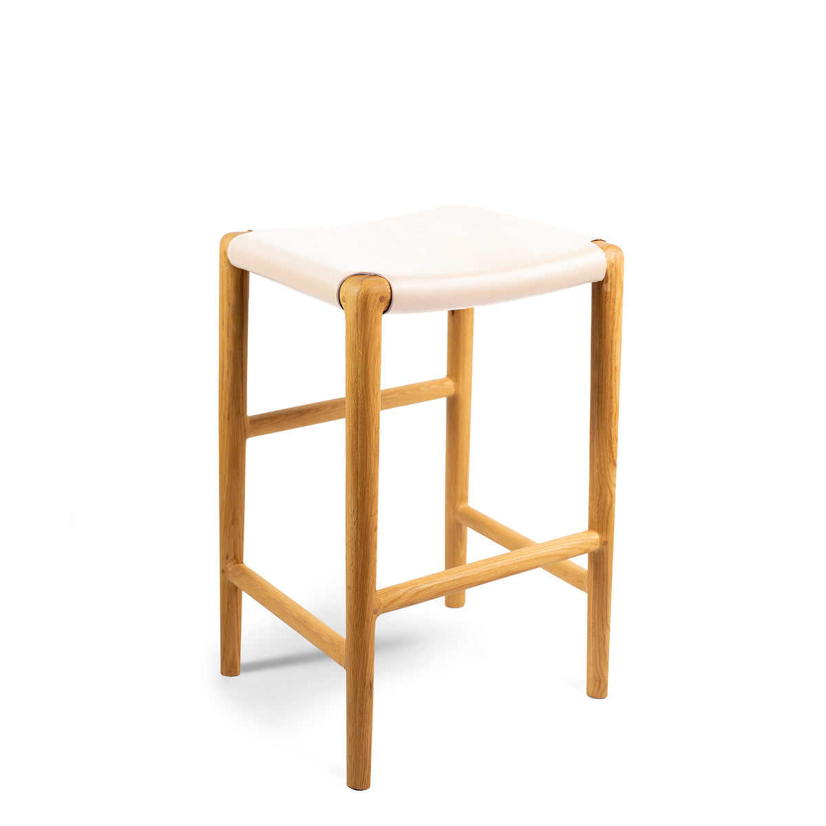 Spensley Stool Oak - Rose Blush