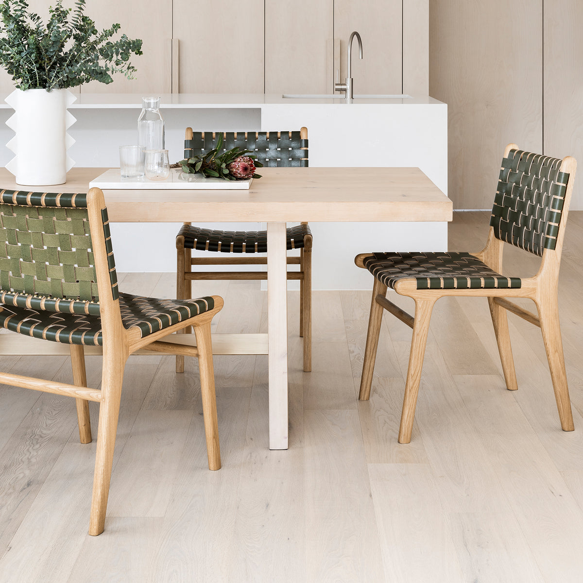 Tanner Dining Chair Oak - Olive