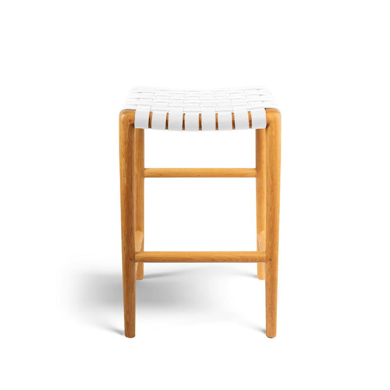 Tanner Stool Oak - White