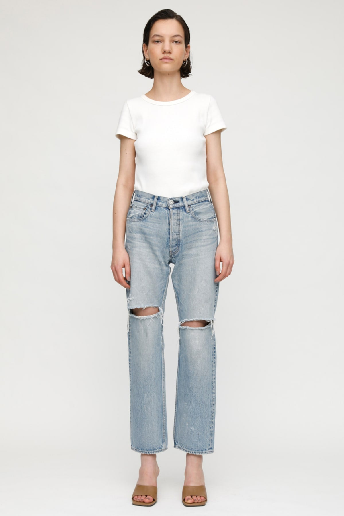 MV Teaneck Wide Straight Jeans in Light Blue