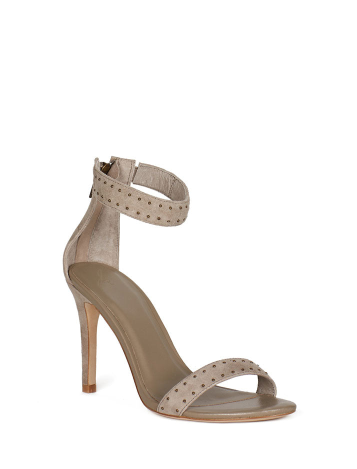 Agata Suede Heel in Gravel