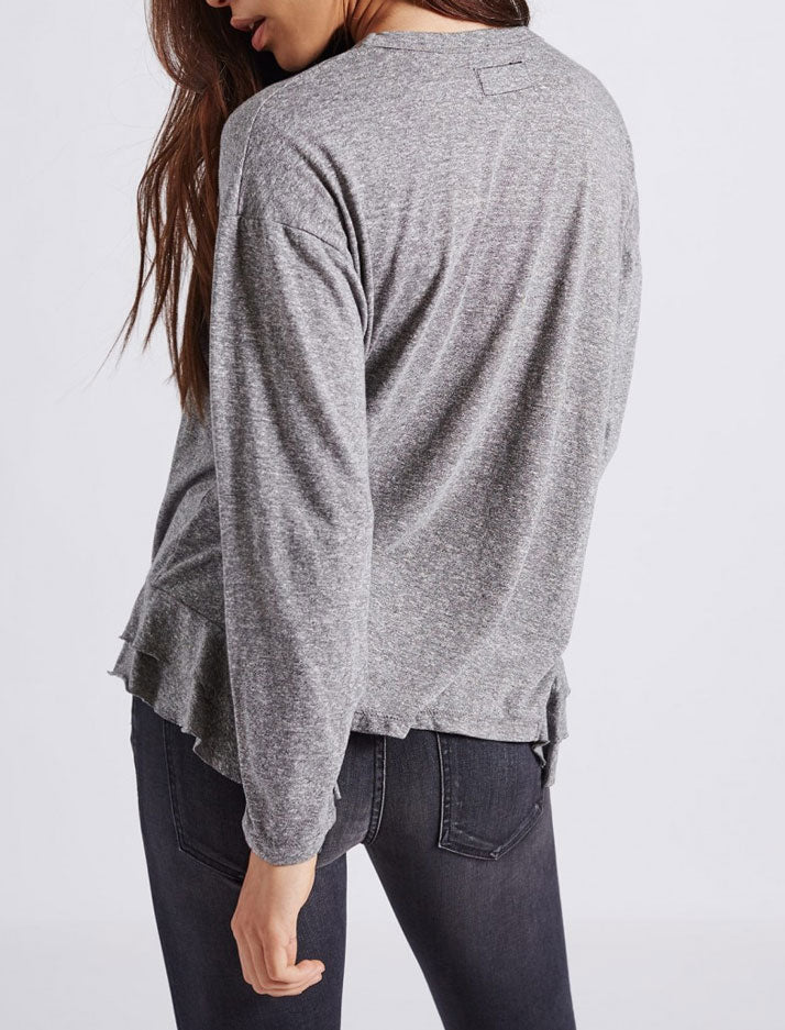 Tier Long sleeve Top in Heather Grey Jersey