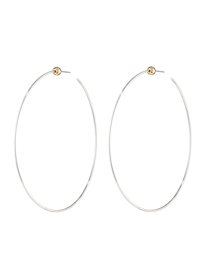 Medium Icon Hoops in Silver with Gold