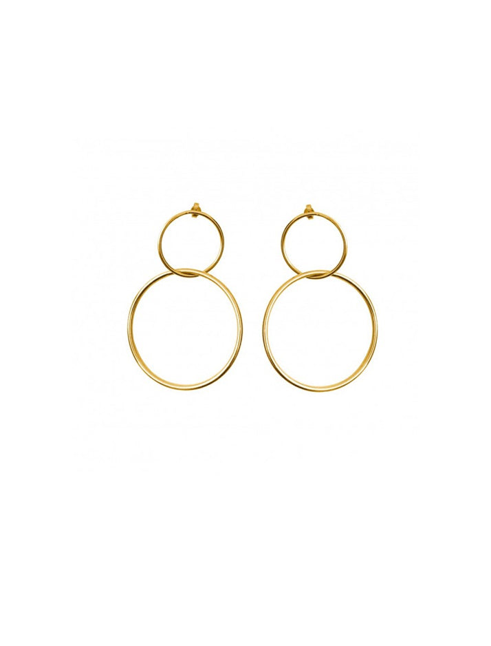 Big Circle Leon Earrings