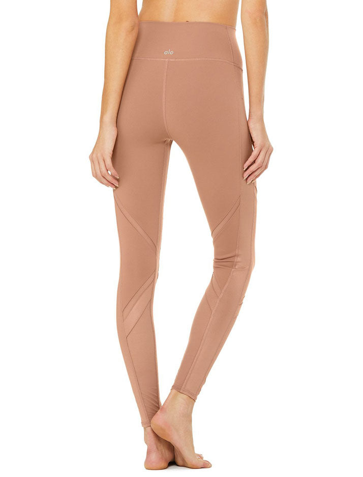 High waist epic legging in rosewater