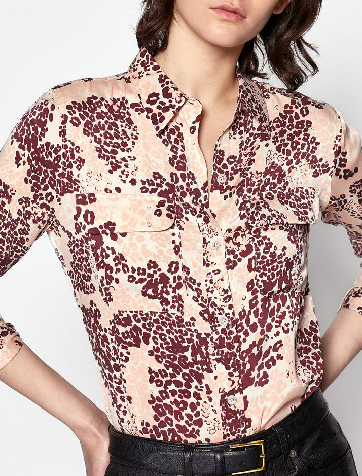 Slim Signature Shirt in rose cloud multi