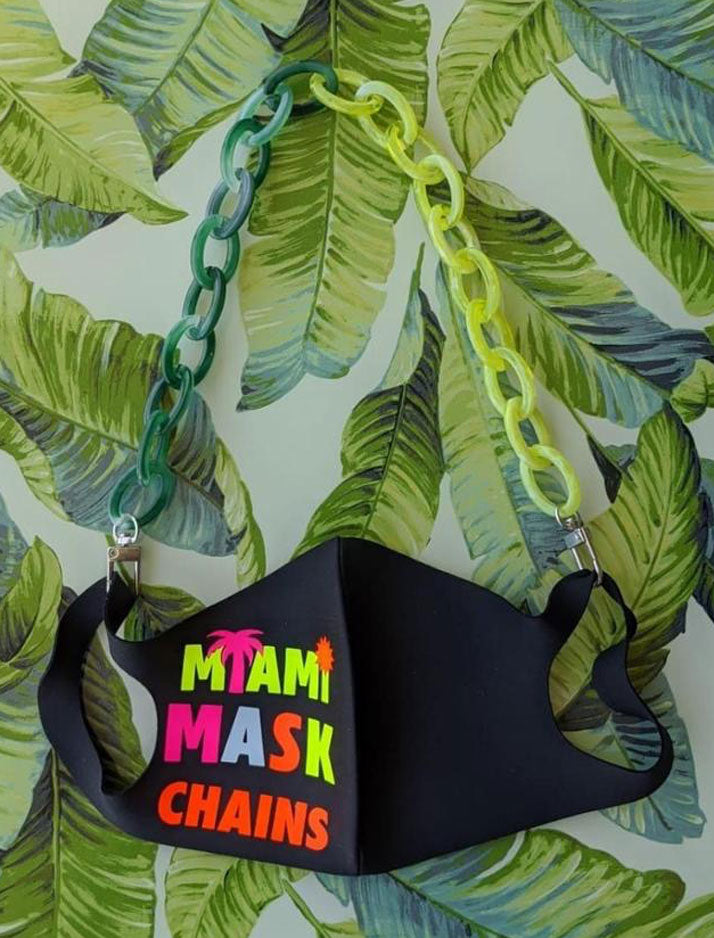 Green Machine Face Mask Chain - Junior Collection