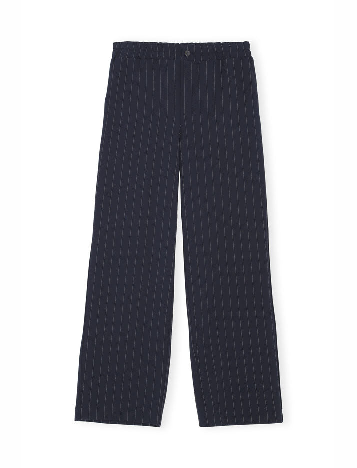 Heavy crepe wide pants in sky captain