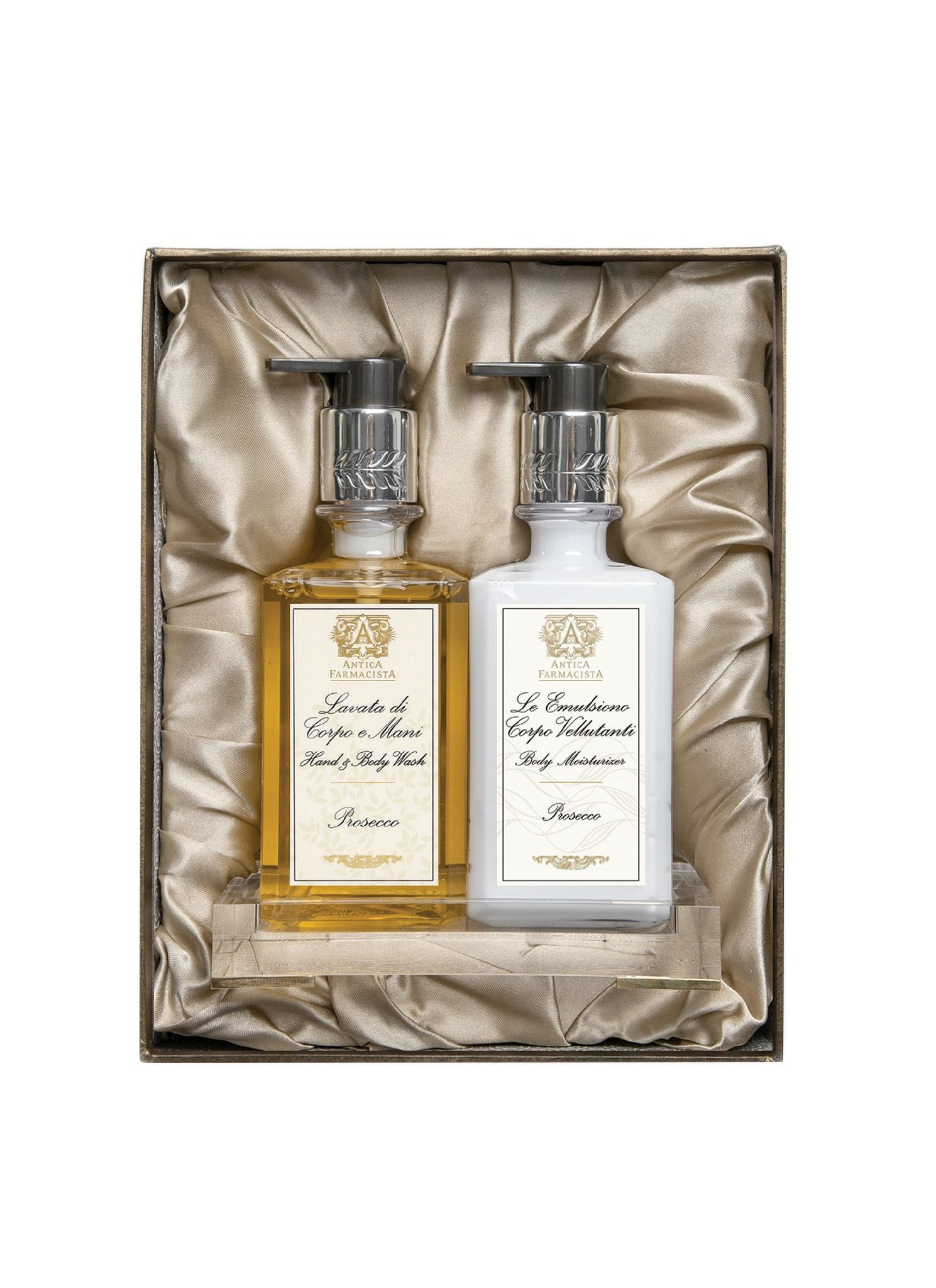 Acrylic Bath & Body Gift Set. Prosecco