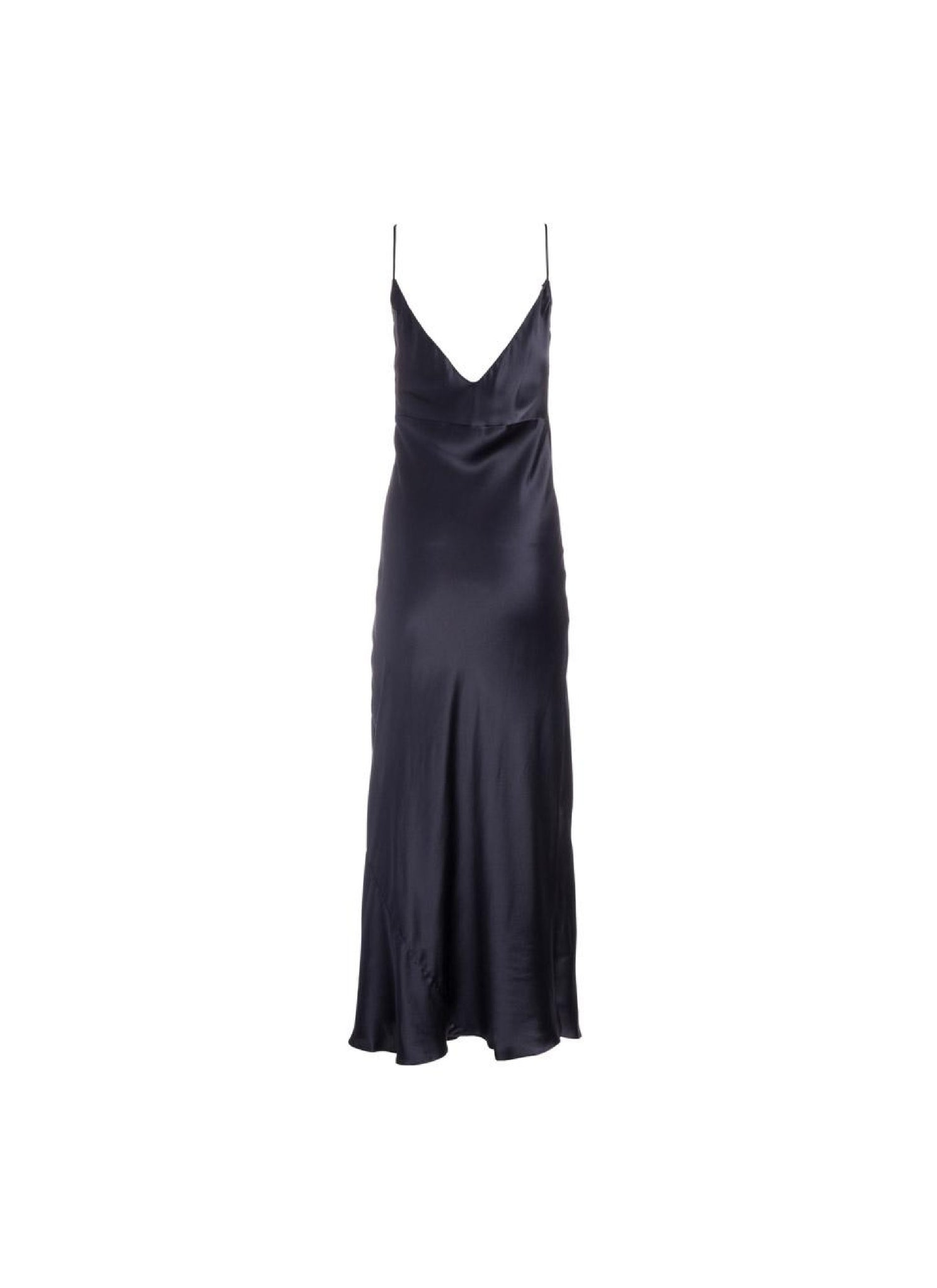 Mossy Slip Dress Almost Black