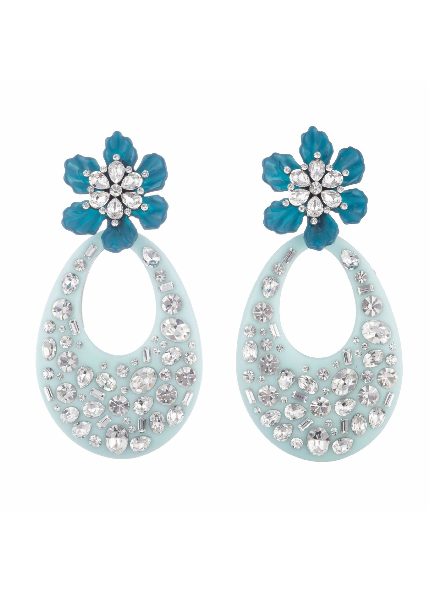 Blossom Earrings Blue