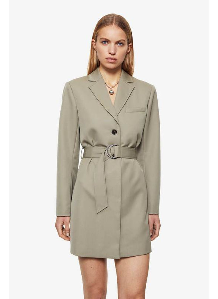 Campbell Dress in Green Khaki