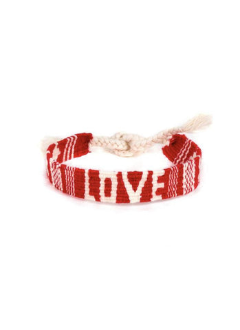 Mantra Bracelet Red Love