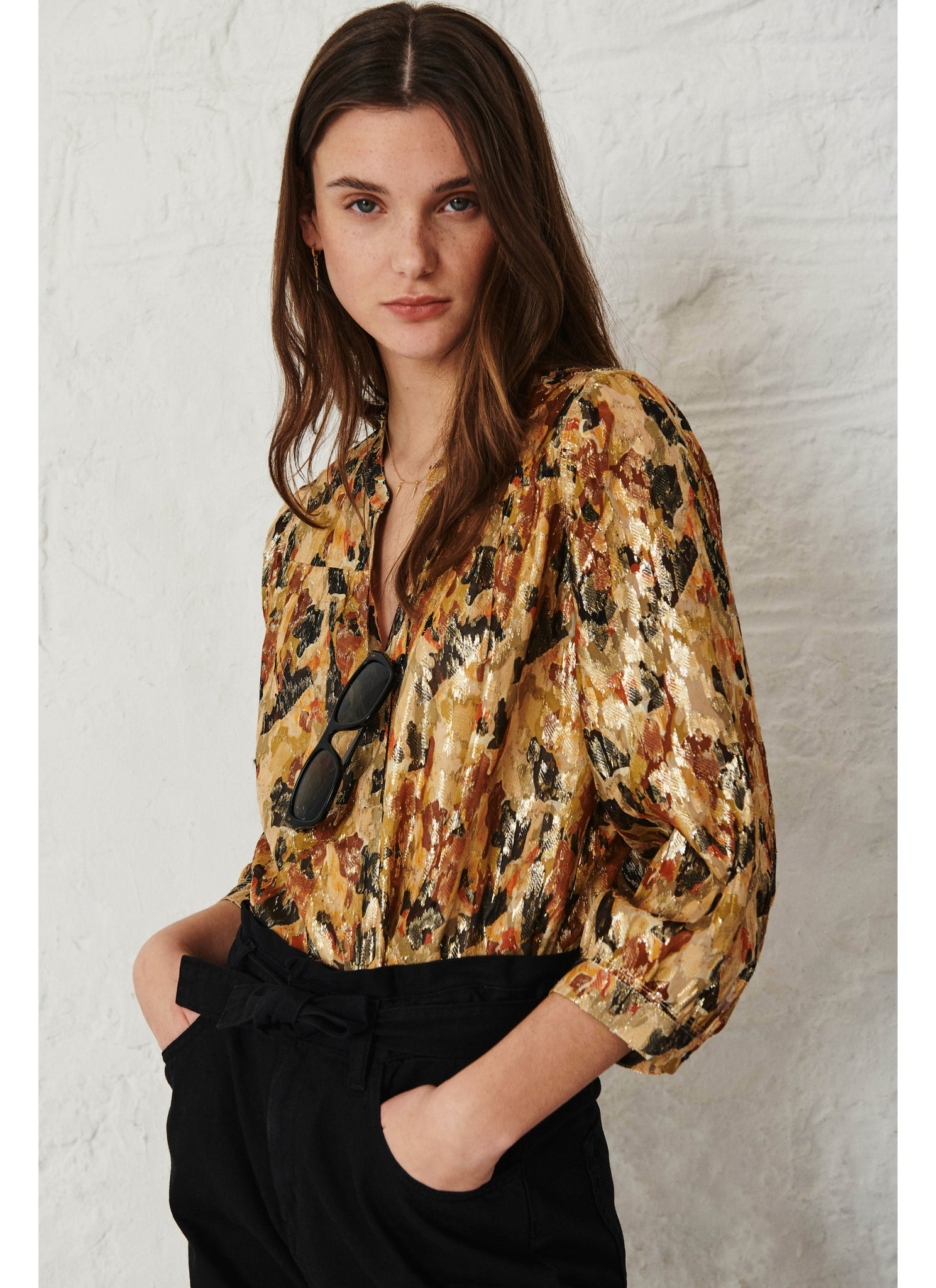 Gaby Blouse. Ocre