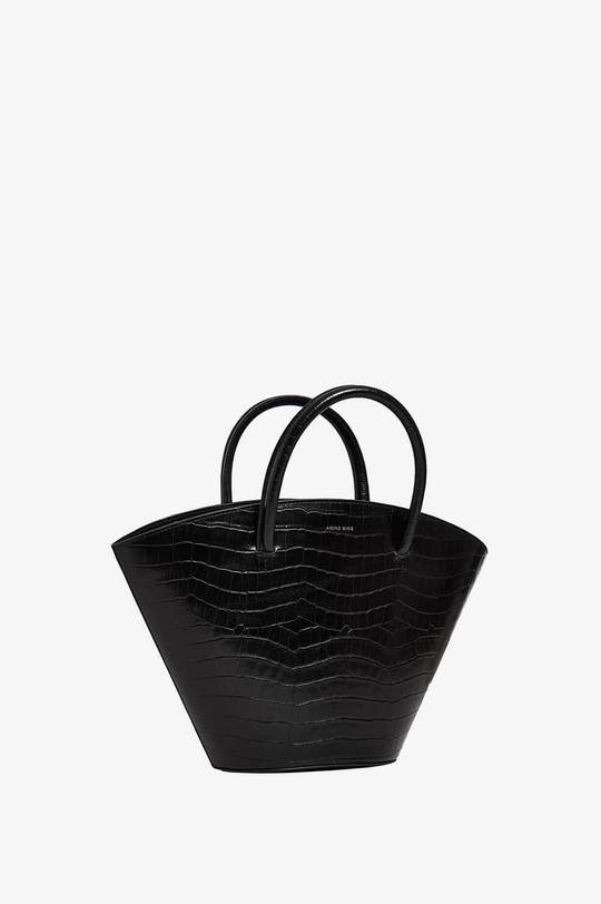 Mini Holland Bag in Black Croco