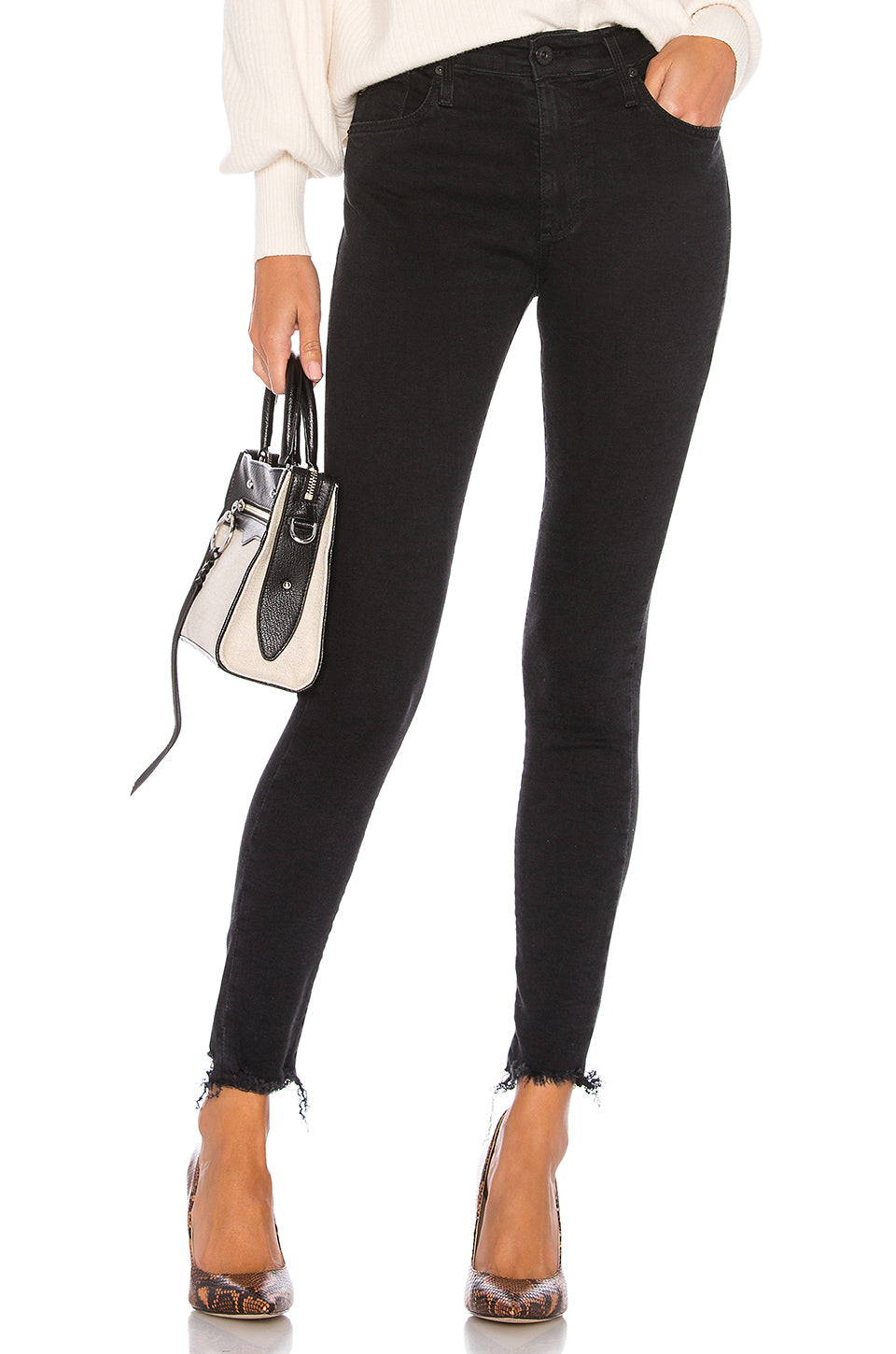Farrah Skinny Ankle Altered Black