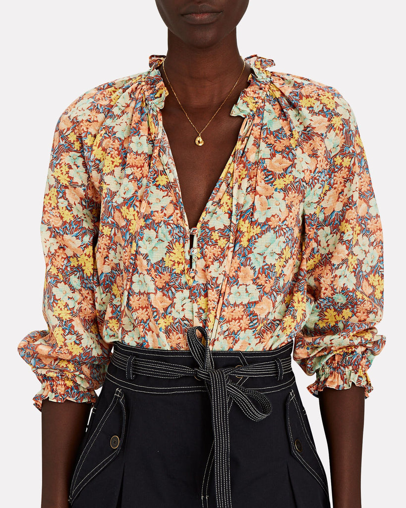 Antonette Abstract Geo Print Top in Multi
