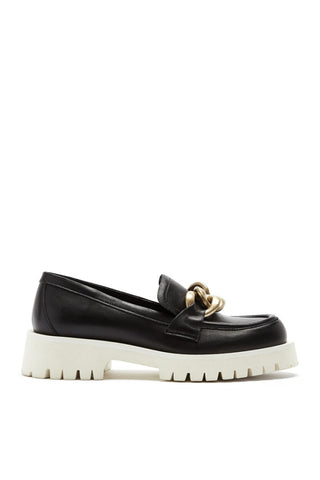 Buena Leather Loafer in Black