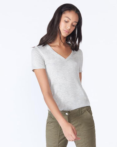 Cindy V-Neck Heather Grey
