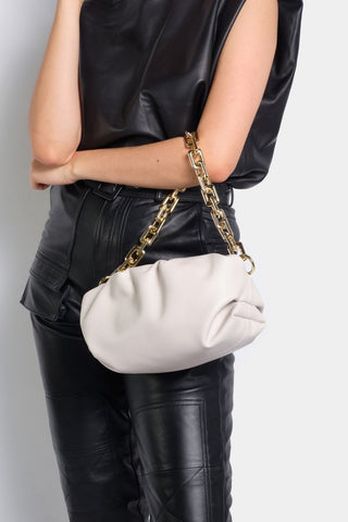 Naomi Bag with Chunky Chain in Stone