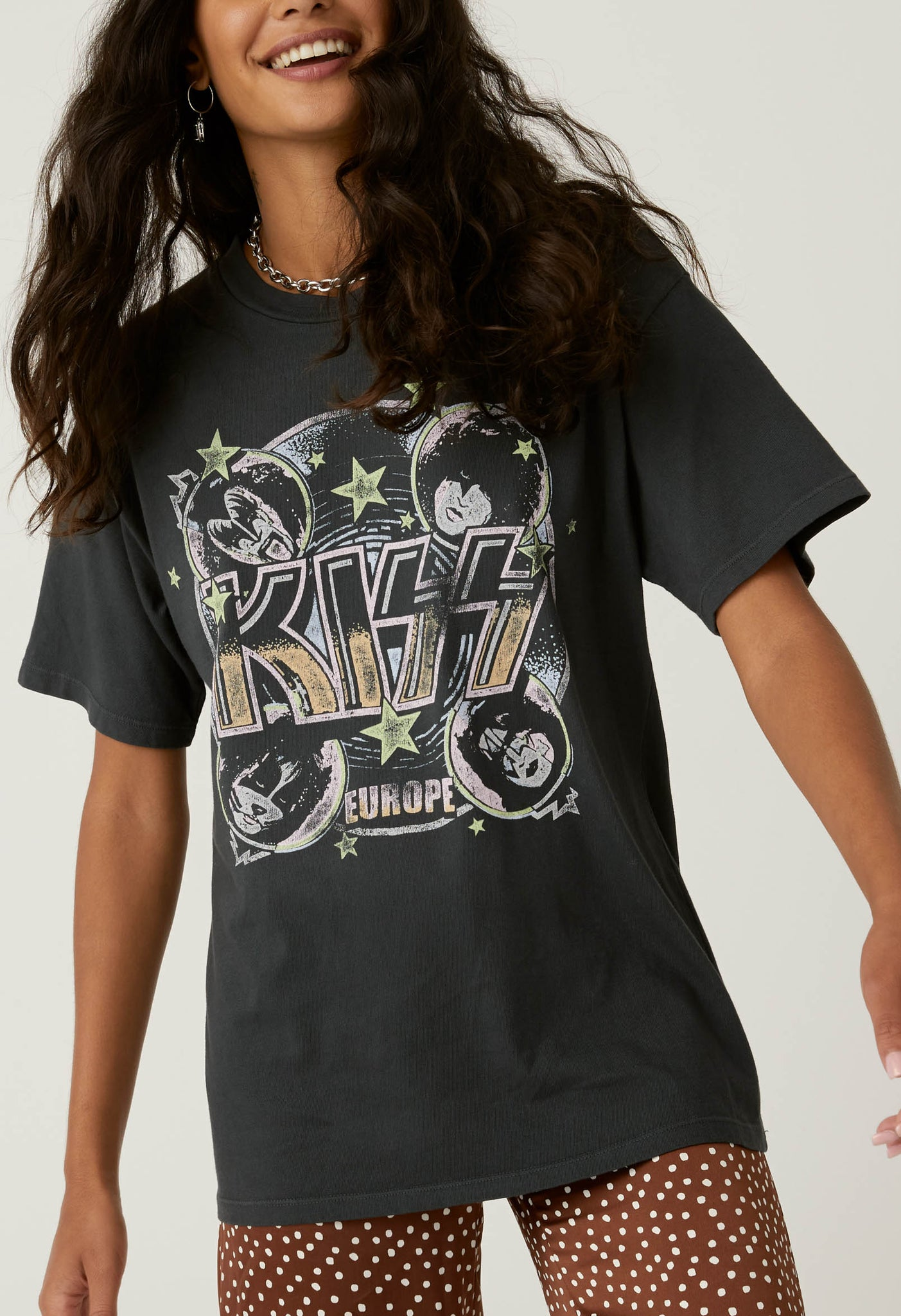 Kiss Sonic Boom Weekend Tee in Vintage Black