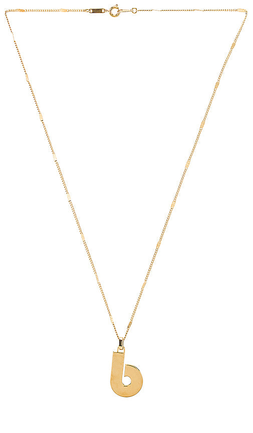 Modernist Monogram Necklace Gold B