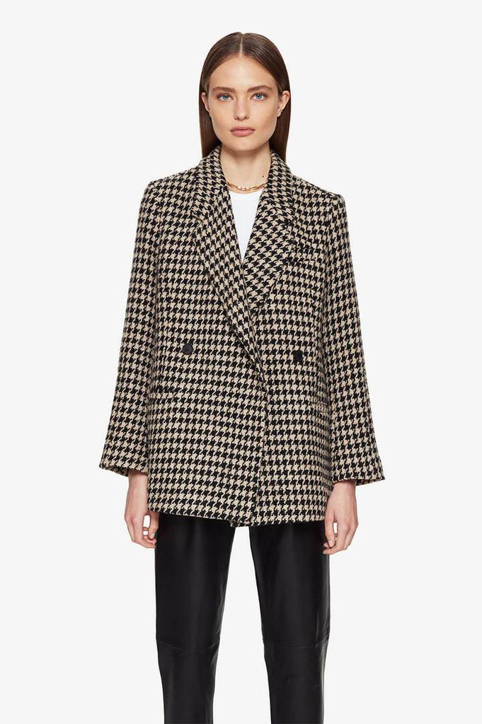 Kaia Blazer in Houndstooth