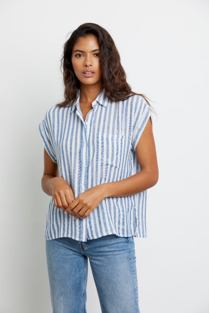 Whitney Top in Echo Stripe