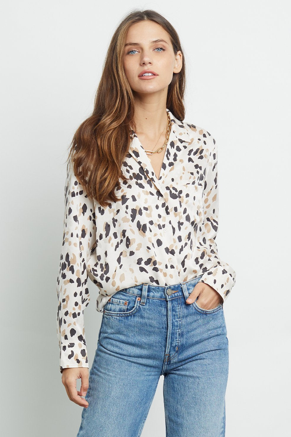 Rebel Shirt in Natural Abstract Animal