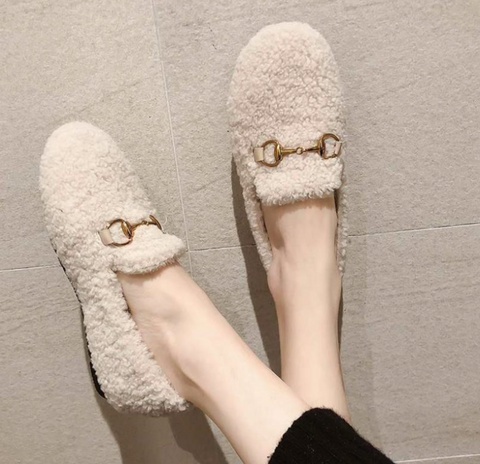 Klassified Slippers in Ivory