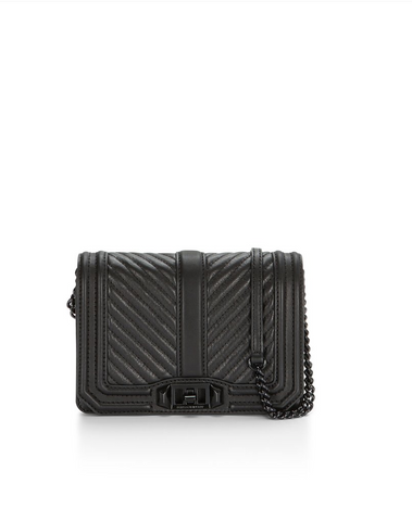 Chevron Quilted Small Love Crossbody