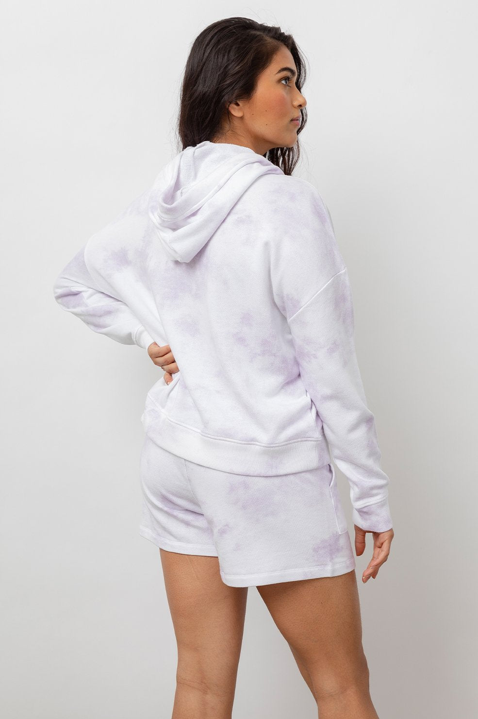 Murray Hooded Sweatshirt in Lavender Tie Dye