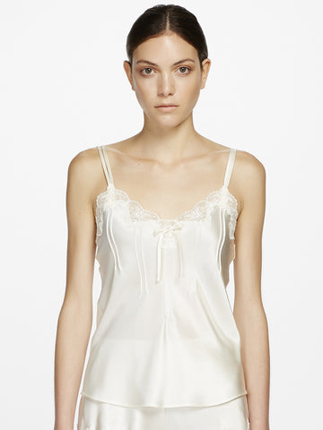 Silk lace camisole white - LingerieBoutique - 1