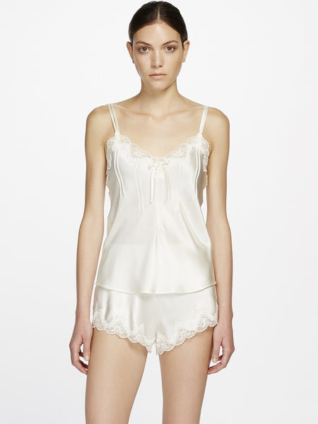 GINIA Lace silk pyjama set - The Lingerie Boutique