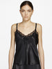 Silk lace camisole black - LingerieBoutique - 1