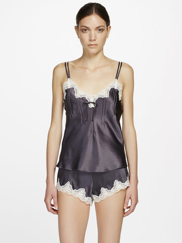 Silk lace camisole grey - LingerieBoutique - 2