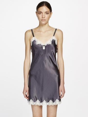 GINIA Silk lace chemise - The Lingerie Boutique