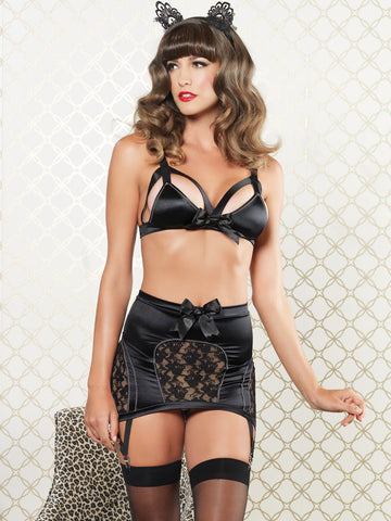 Vixen triangle bra & suspender - LingerieBoutique - 1