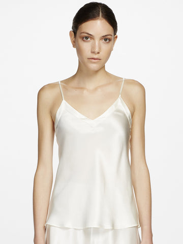 Silk v neck camisole - LingerieBoutique - 1