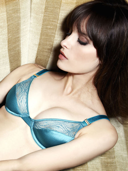 FLEUR OF ENGLAND Emerald Collection plunge bra - The Lingerie Boutique