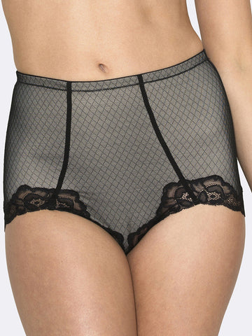 Whisper Allover Lace Control Brief - LingerieBoutique - 1