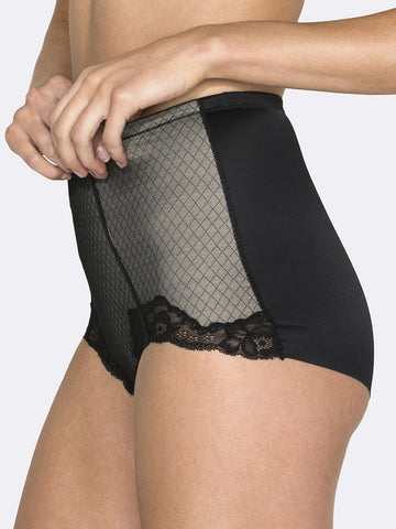 Whisper Allover Lace Control Brief - LingerieBoutique - 2