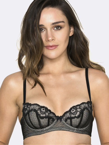 Whisper padded balconette bra