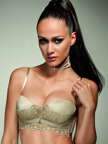 LISCA Lisca Onyx strapless bra gold - The Lingerie Boutique
