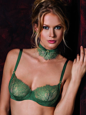 LISCA Glitter balconette bra - The Lingerie Boutique